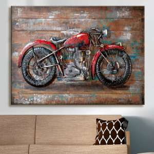 Alte Liebe Picture Metal Wall Art In Copper And Red