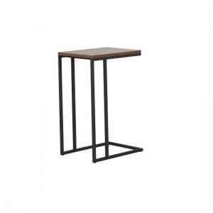 Altino Wooden Side Table In Walnut With Metal Frame_2