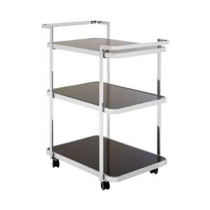 Alvara 3 Tier Bar Trolley In Chrome
