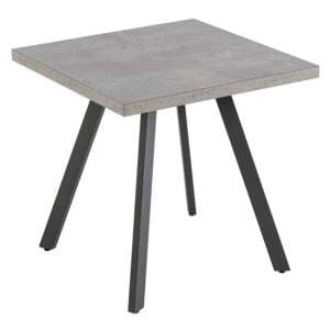 Amalfi Lamp Table In Grey With Powder Coated Frame