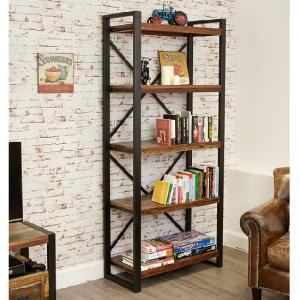 London Urban Chic Wooden Large Bookcase With 5 Shelf