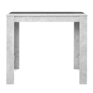 Amarelo Structured Concrete And White Black Small Dining Table