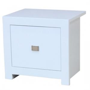 Amentis Bedside Cabinet In White High Gloss With 2 Drawers