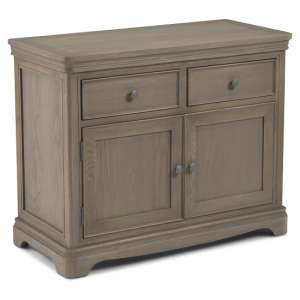 Ametis Wooden Compact Sideboard In Grey Washed Oak With 2 Doors