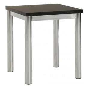Andi Lamp Table In Black Gloss With Chrome Legs