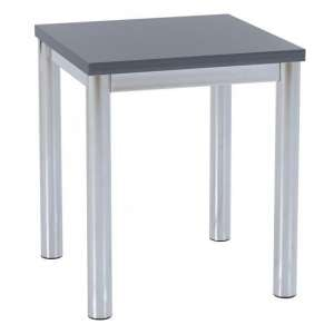 Andi Lamp Table In Grey Gloss With Chrome Legs