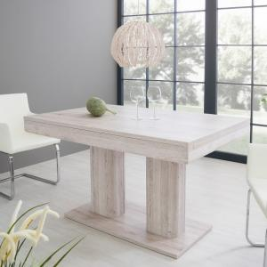 Andorra Wooden Extendable Dining Table In Sorrento Oak