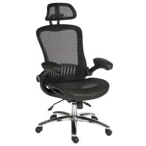 Andrea Luxurious Executive Chair In Black Mesh With Castors