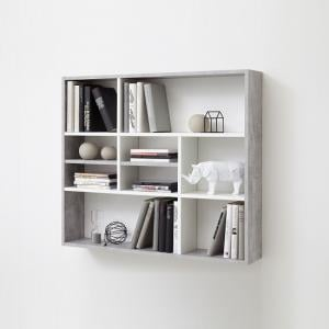 Andreas Wall Mounted Shelving Unit In White And Light Atelier