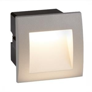 Ankle Square LED Outdoor Recessed Light In Grey