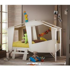 Annecy Wooden Children Bed In Taupe And Beige