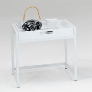 Annika Serving Tray Table in White