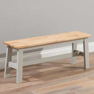 Antlia Wooden Large Dining Bench In Oak And Grey