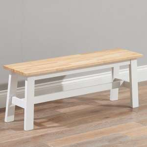 Antlia Wooden Large Dining Bench In Oak And White