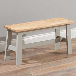 Antlia Wooden Small Dining Bench In Oak And Grey