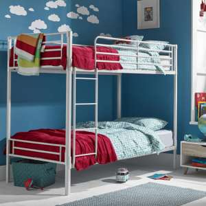 Apollo Metal Bunk Bed In White