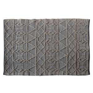 Appellido Small Fabric Upholstered Rug In Black Natural