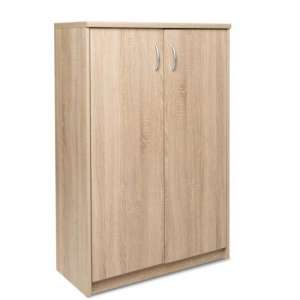 Aquarius Small Shoe Storage Cabinet In Sonoma Oak With 2 Doors