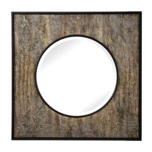 Archibald Square Wall Mirror With Black Frame