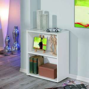 Arco Wooden Bookcase In White With 1 Shelf
