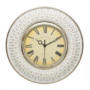 Arco Vintage Style Wall Clock Round In White