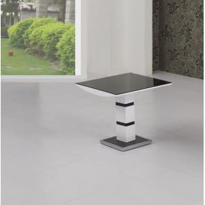 Arctica Glass Lamp Table Square In Black With White High Gloss