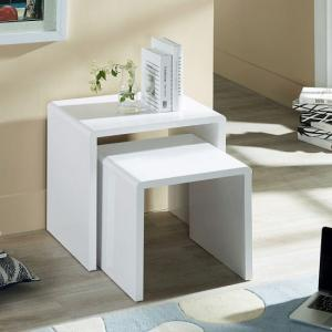 Arden Contemporary Nest of Tables In White High Gloss