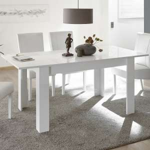 Ardent Extendable Dining Table Rectangular In White High Gloss