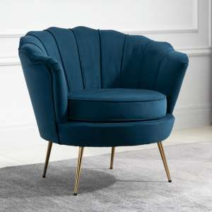 Ariel Fabric Upholstered Accent Chair In Blue