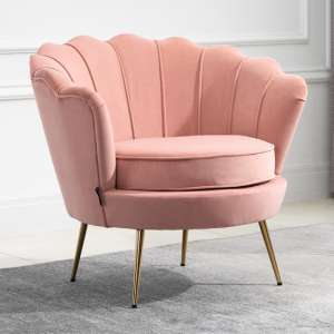 Ariel Fabric Upholstered Accent Chair In Coral