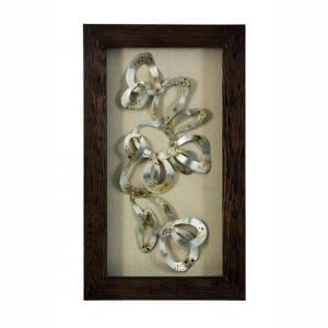 Framed Gold Swirls Wall Art