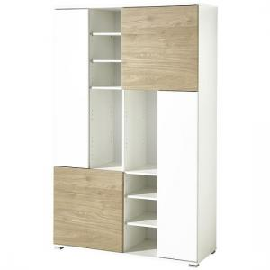 Artur Wooden Filing Cabinet In White And Kendal Oak