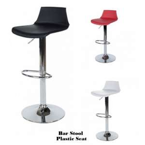 Arturo Bar Stools In Black ABS With Chrome Base In A Pair_2