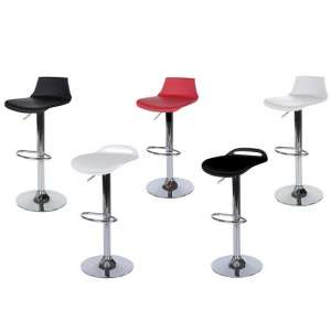 Arturo Bar Stools In Black ABS With Chrome Base In A Pair_3