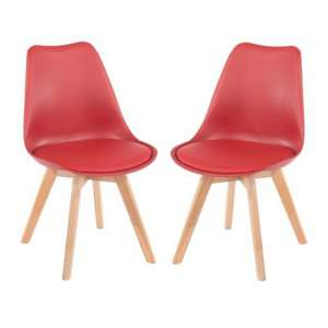 Arturo Red Bistro Chair In Pair