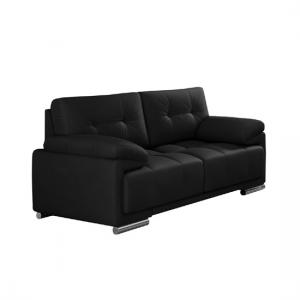 Aruba Sofa Set In Bonded Leather With Chrome Feet_2