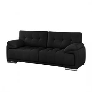 Aruba Sofa Set In Bonded Leather With Chrome Feet_3