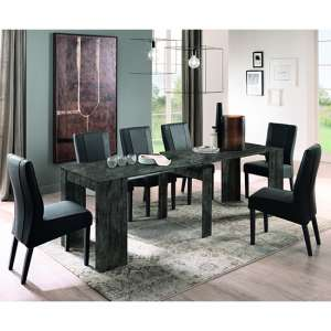 Aspen Extending Oxide Wooden Dining Table With 8 Miko Chairs