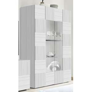 Aspen Wooden Display Cabinet In Matt White With 2 Doors