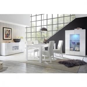 ... Aspen Modern Sideboard In White High Gloss With LED_5