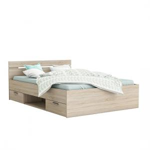 Astro Storage Double Bed In Brushed Oak With 2 Drawers