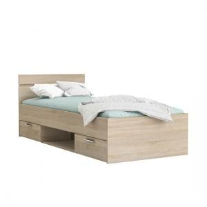 Astro Storage Single Bed In Brushed Oak With 2 Drawers