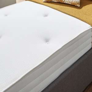 Athena Luxury Tufted Bonnell King Size Mattress In White