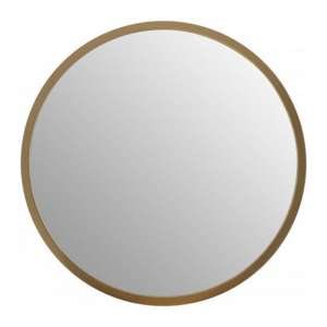 Athens Medium Round Wall Bedroom Mirror In Gold Frame