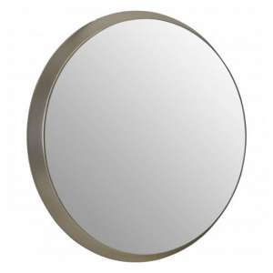 Athens Round Wall Bedroom Mirror In Silver Frame
