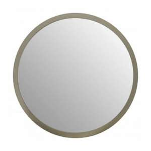 Athens Small Round Wall Bedroom Mirror In Silver Frame
