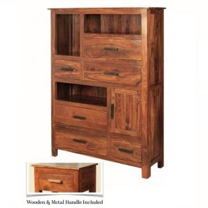 Athens Storage Cabinet In Solid Shesham Wood