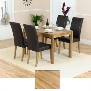 Atlanta Solid Oak Dining Table And 4 Atlanta Chairs