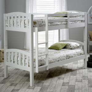 Rowley Wooden Bunk Bed In White Pine