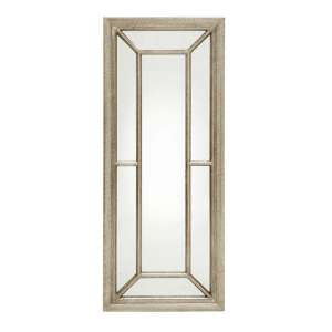 Ava Rectangular Art Deco Wall Mirror In Champagne